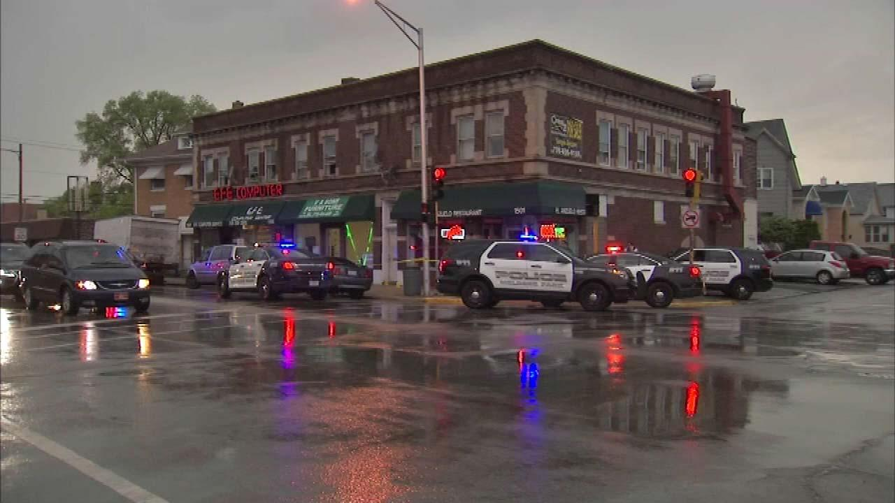 Police are investigating another shooting in west suburban Melrose Park.