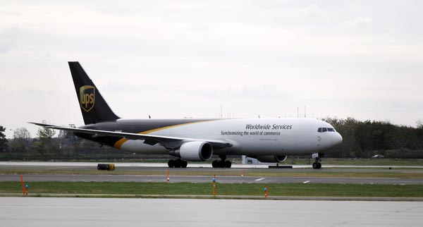 A United Parcel Service jet is seen isolated on a runway at Philadelphia International Airport in Philadelphia, Friday, Oct. 29, 2010. Law enforcement officials are investigating reports of suspicious packages on cargo planes in Philadelphia and Newark, N.J. (AP Photo/Matt Rourke)
