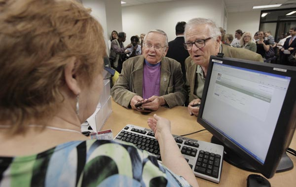 "<div class=""meta image-caption""><div class=""origin-logo origin-image ""><span></span></div><span class=""caption-text"">Jim Darby, 79, left, and his partner Patrick Bora,73, apply for a civil union license at the Cook County Office of Vital Records, Wednesday, June 1, 2011, in Chicago.   (AP Photo/M. Spencer Green)</span></div>"