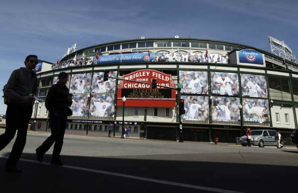 "<div class=""meta image-caption""><div class=""origin-logo origin-image ""><span></span></div><span class=""caption-text"">The Marquee at Wrigley Field, one day before the Chicago Cubs home opener against the Washing Nationals in Chicago, Wednesday, April 4, 2012. Renovation of Wrigley Field, the 1914 stadium getting ready for opening day Thursday, has been tossed around for years. But funding has stalled plans. Send your photos from Wrigley Field to useeit@abc7chicago.com!  (AP Photo/Nam Y. Huh)</span></div>"