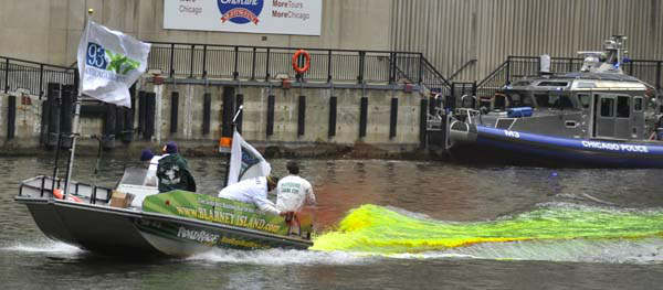 "<div class=""meta image-caption""><div class=""origin-logo origin-image ""><span></span></div><span class=""caption-text"">The Chicago River is dyed green right before the start of the St. Patrick's Day parade in Chicago, Saturday, March, 16, 2013.  With the holiday itself falling on a Sunday, many celebrations were scheduled instead for Saturday because of religious observances. (AP Photo/Paul Beaty) (AP Photo/ PAUL BEATY)</span></div>"