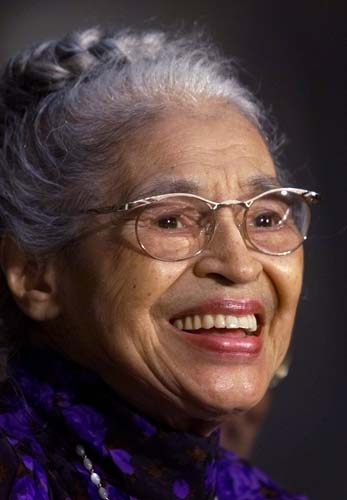 In a June 15, 1999 file photo Rosa Parks smiles during a Capitol Hill ceremony where Parks was honored with the Congressional Gold Medal in Washington. Parks will become the first black woman to be honored with a full-length statue in the Capitol&#39;s Statuary Hall on Wednesday Feb. 27, 2013.  <span class=meta>(AP Photo&#47;Khue Bui)</span>