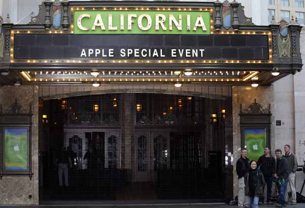 "<div class=""meta image-caption""><div class=""origin-logo origin-image ""><span></span></div><span class=""caption-text"">The California Theater is decorated for an Apple event in San Jose, Calif., Tuesday, Oct.  23, 2012. Apple is holding an event Tuesday to announce new products.  (AP Photo/Marcio Jose Sanchez)</span></div>"