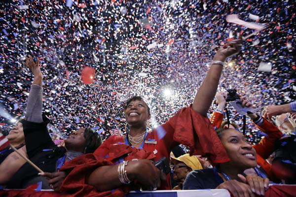 "<div class=""meta ""><span class=""caption-text "">Supporters cheer at the end of President Barack Obama remarks during an election night party, early Wednesday, Nov. 7, 2012, in Chicago. Obama defeated Republican challenger former Massachusetts Gov. Mitt Romney. (AP Photo/Matt Rourke) (AP Photo/ Matt Rourke)</span></div>"