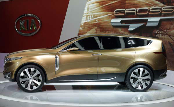 Kia&#39;s Cross GT Concept car is displayed during the media preview of the Chicago Auto Show at McCormick Place  in Chicago on Thursday, Feb. 7, 2013. &#40;AP photo&#47;Nam Y. Huh&#41; <span class=meta>(AP Photo&#47; Nam Y. Huh)</span>