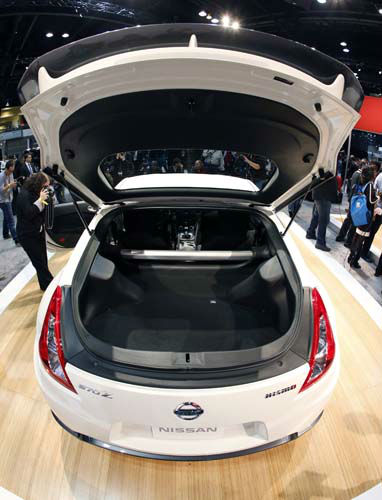 The 2013 Nissan 370Z Nismo is revealed at the Chicago Auto Show Thursday, Feb. 7, 2013, in Chicago. &#40;AP Photo&#47;Charles Rex Arbogast&#41; <span class=meta>(AP Photo&#47; Charles Rex Arbogast)</span>