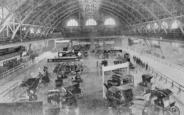 First auto show in Chicago's Coliseum on Feb. 1,...