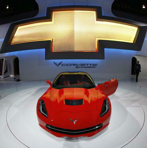 "<div class=""meta ""><span class=""caption-text "">The 2014 Chevrolet Corvette Stingray is revealed at the Chicago Auto Show Thursday, Feb. 7, 2013, in Chicago. (AP Photo/Charles Rex Arbogast) (AP Photo/ Charles Rex Arbogast)</span></div>"