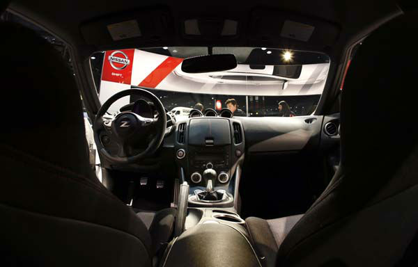 The interior of the 2014 Nissan 370Z Nismo is displayed at the Chicago Auto Show Thursday, Feb. 7, 2013, in Chicago. &#40;AP Photo&#47;Charles Rex Arbogast&#41; <span class=meta>(AP Photo&#47; Charles Rex Arbogast)</span>