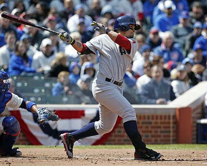 Arizona Diamondbacks&#39; Gerardo Parra hits a single against the Chicago Cubs during the third inning of a baseball game at Wrigley Field in Chicago on Wednesday, April 23, 2014. &#40;AP Photo&#47;Andrew A. Nelles&#41; <span class=meta>(Photo&#47;Andrew Nelles)</span>