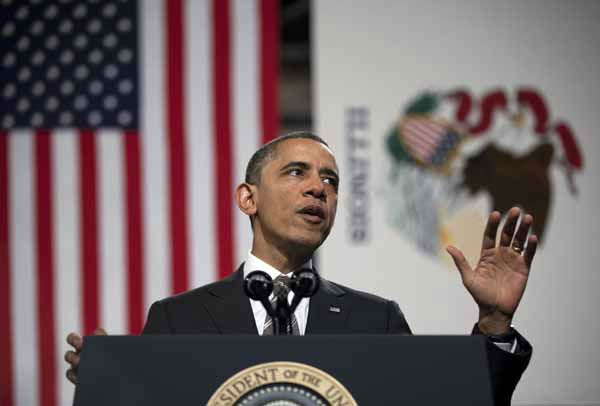 President Barack Obama gestures as he speaks at Hyde Park Academy on Friday, Feb. 15, 2013, in Chicago. Obama is traveling to promote the economic and educational plan he laid out in his State of the Union address.  &#40;AP Photo&#47;Evan Vucci&#41; <span class=meta>(AP Photo&#47; Evan Vucci)</span>