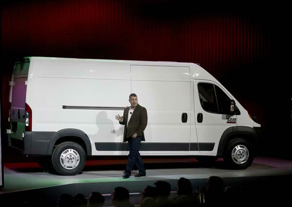 Fred Diaz, President and CEO Truck Brand Chrysler Mexico, talks about the 2014 Ram ProMaster 3500 Cargo Van at the Chicago Auto Show Thursday, Feb. 7, 2013, in Chicago. &#40;AP Photo&#47;Charles Rex Arbogast&#41; <span class=meta>(AP Photo&#47; Charles Rex Arbogast)</span>