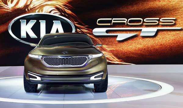 Kia&#39;s Cross GT Concept car is seen during the media preview of the Chicago Auto Show at McCormick Place  in Chicago on Thursday, Feb. 7, 2013. &#40;AP photo&#47;Nam Y. Huh&#41; <span class=meta>(AP Photo&#47; Nam Y. Huh)</span>
