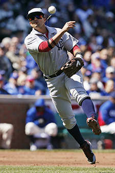 Arizona Diamondbacks third baseman Martin Prado throws to first as the Chicago Cubs&#39; Justin Ruggiano grounds out during the fourth inning of a baseball game at Wrigley Field in Chicago on Wednesday, April 23, 2014. &#40;AP Photo&#47;Andrew A. Nelles&#41; <span class=meta>(Photo&#47;Andrew Nelles)</span>
