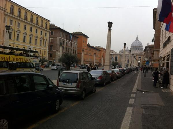Photo by Alan Krashesky (@KrasheskyABC7): Cool & hazy in #Rome today. No snow though! #weather #conclave