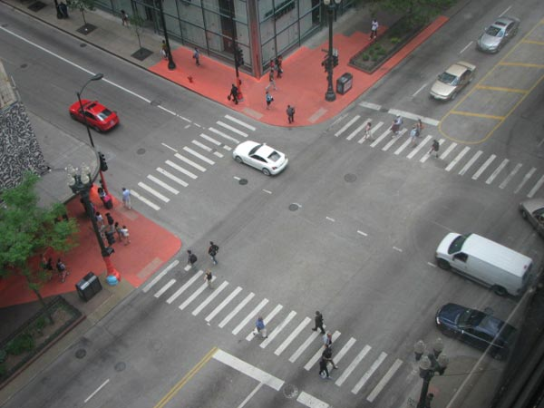 A birds-eye view of the Color Jam intersection from the 8th floor of the building on 11th East Adams. Photo taken May 29, 2012 &#40;ABC7Chicago.com&#47; Evan Peterson&#41; <span class=meta>(ABC7Chicago.com&#47; Evan Peterson)</span>
