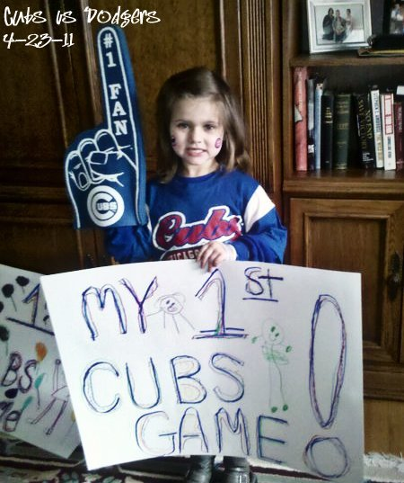 Cubs fan's first game - Nicole Meinert