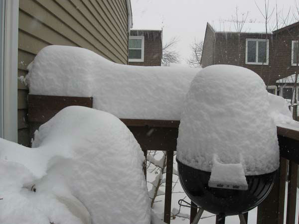 Doesn&#39;t look like Shelly Whitney will be grilling out any time soon in Carol Stream! <span class=meta>(Shelly Y. Whitney, Carol Stream)</span>