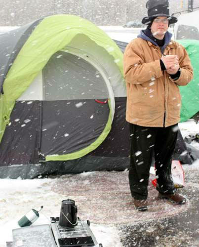 "<div class=""meta ""><span class=""caption-text "">They camped out overnight in the bitter cold to be the first 100 when the doors opened on February 6, 2014. (WLS Photo/Chick-fil-A)</span></div>"