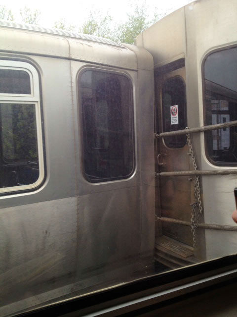 "<div class=""meta ""><span class=""caption-text "">A CTA Red Line train derailed in the Lincoln Park neighborhood, Thursday, May 9, 2013, disrupting service on the Brown and Red lines. (Image courtesy DePaul student Annie Nelson)</span></div>"