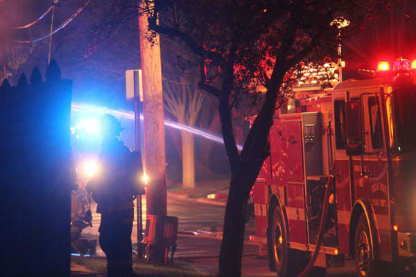 No one was injured when a Villa Park garage exploded and caught fire just after midnight Sunday. Three cars were destroyed and there was some damage to the adjacent home.   <span class=meta>(Photo&#47;TVVPStyle News Al Stasch)</span>