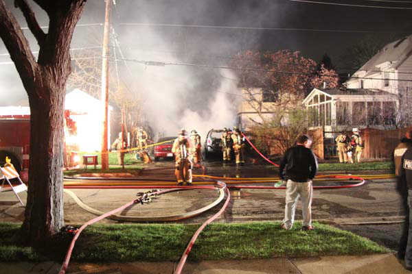 "<div class=""meta image-caption""><div class=""origin-logo origin-image ""><span></span></div><span class=""caption-text"">No one was injured when a Villa Park garage exploded and caught fire just after midnight Sunday. Three cars were destroyed and there was some damage to the adjacent home.   (Photo/TVVPStyle News Al Stasch)</span></div>"