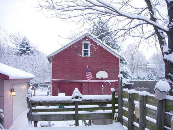 Bright red barn in all the snow. <span class=meta>(FACEBOOK&#47;Judy Graham)</span>