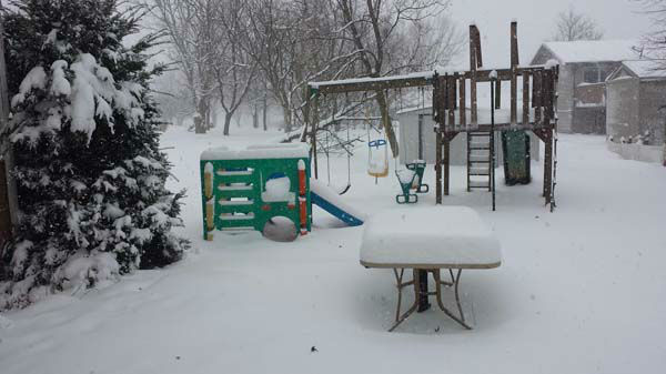 Not much of a day for playgrounds in Lakes of the Four Seasons, Ind. <span class=meta>(FACEBOOK&#47;Katie Crissinger-Brehmer)</span>