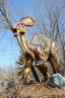 "<div class=""meta ""><span class=""caption-text "">Using mobile technology such as QR codes, guests will be able to connect to streaming video that features whimsical information about dinosaurs.  (Jim Schulz/Chicago Zoological Society)</span></div>"