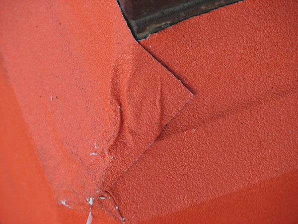 Red vinyl that was pressed to a lamp post. Photo taken May 29, 2012 &#40;ABC7Chicago.com&#47; Evan Peterson&#41; <span class=meta>(ABC7Chicago.com&#47; Evan Peterson)</span>