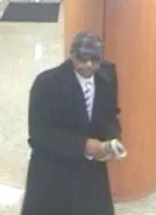 "<div class=""meta ""><span class=""caption-text "">The FBI is looking for help finding the man suspected in four downtown Chicago bank robberies since December 5. The suspect is described as a black male in his 40s, between 5'9"" and 5'11"", weighing over 200 pounds.</span></div>"