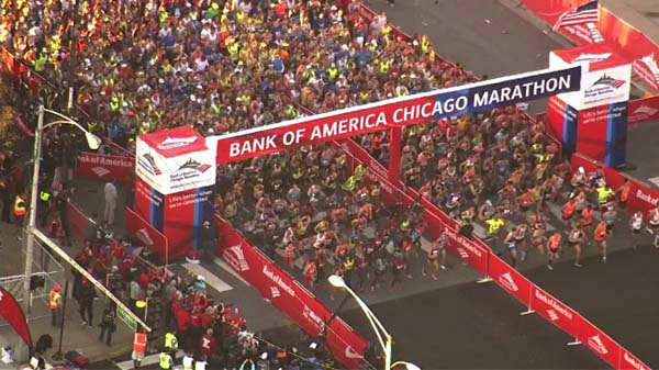 "<div class=""meta ""><span class=""caption-text "">And they?re off! Thousands of runners hit the streets and millions lined the route amidst tight security for the 2013 Chicago marathon on October 13, 2013.</span></div>"