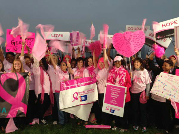 Roz Varon and supporters mark Breast Cancer Awareness Month