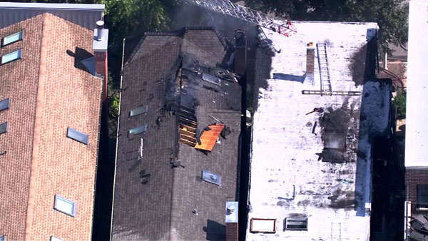 "<div class=""meta image-caption""><div class=""origin-logo origin-image ""><span></span></div><span class=""caption-text"">Crews were called to the 3600-block of North Wayne around 12:45 p.m. Tuesday. The fire spread to a neighboring building before it was struck.  (WLS Photo)</span></div>"