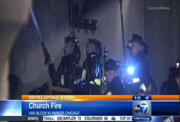 "<div class=""meta image-caption""><div class=""origin-logo origin-image ""><span></span></div><span class=""caption-text"">Firefighters were called to the Outreach Community Church at about 3:20 a.m. Saturday in the 4300-block of W. Parker.</span></div>"