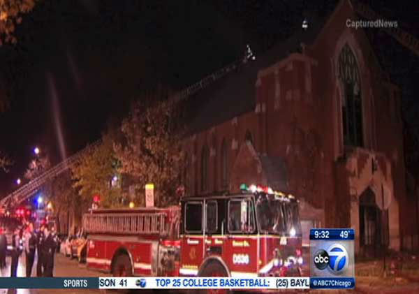 "<div class=""meta ""><span class=""caption-text "">Firefighters were called to the Outreach Community Church at about 3:20 a.m. Saturday in the 4300-block of W. Parker.</span></div>"