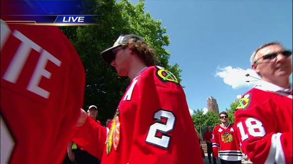 Blackhawks Rally <span class=meta>(WLS Photo)</span>