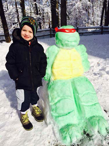 Raphael and Nicholas: My son loves the Ninja Turtles so we built one for him!! He was so surprised and loves it !!  <span class=meta>(WLS Photo&#47; viewer-submitted)</span>