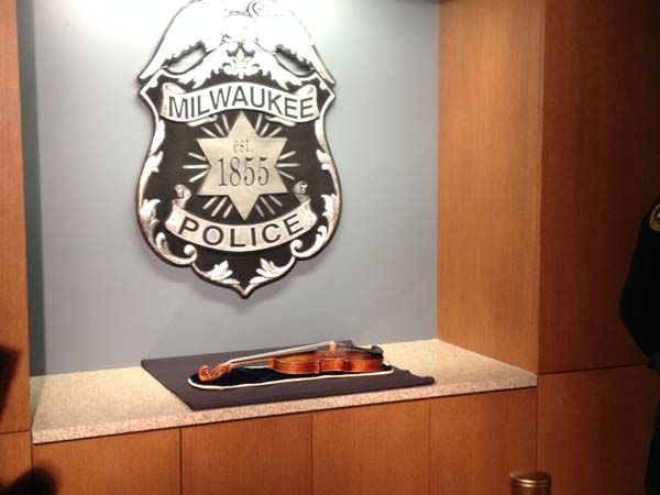 A stolen Stradivarius violin worth &#36;5 million was found in good condition in Milwaukee. Three people were arrested in the theft. <span class=meta>(WLS Photo)</span>