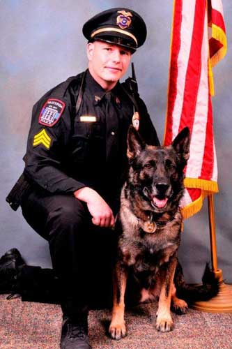Maxx and his crime-fighting partner&#47;trainer Sgt. John Combs often help out nearby law enforcement agencies when they need canine assistance, such as Lake County or Mundelein.  <span class=meta>(Wauconda Police Department)</span>