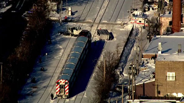"<div class=""meta image-caption""><div class=""origin-logo origin-image ""><span></span></div><span class=""caption-text"">No one was seriously hurt when a Metra train struck a truck on the city?s Northwest Side at Avondale and Sayre in Norwood Park.  (WLS Photo)</span></div>"