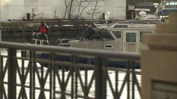 Two men were pulled from the icy Chicago River early Monday morning. One of them died. Dive teams are searching for a third person, who is presumed dead.