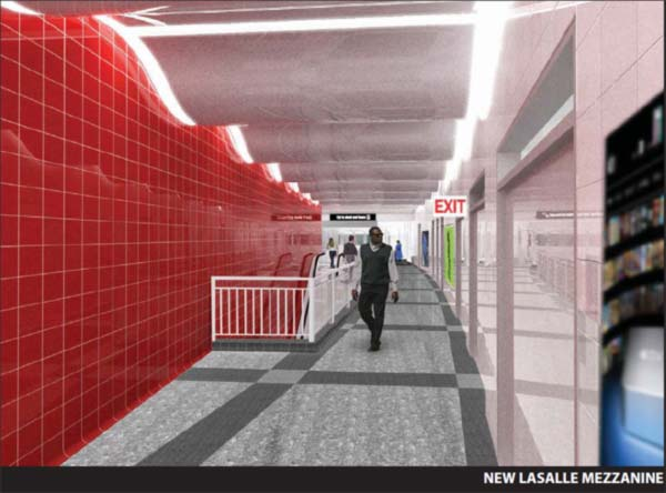 Clark and Division Red Line station - Proposed new mezzonine <span class=meta>(CDOT)</span>