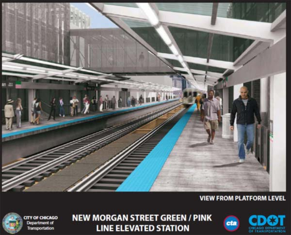 New CTA station at Morgan and Lake on Green&#47;Pink lines <span class=meta>(CDOT)</span>