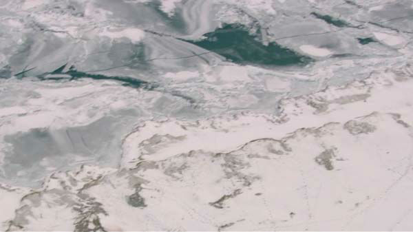 These bird?s eye-view of a beautiful, icy Lake Michigan off Chicago were taken from Chopper 7HD on Tuesday, February 4, 2014.  <span class=meta>(WLS Photo)</span>