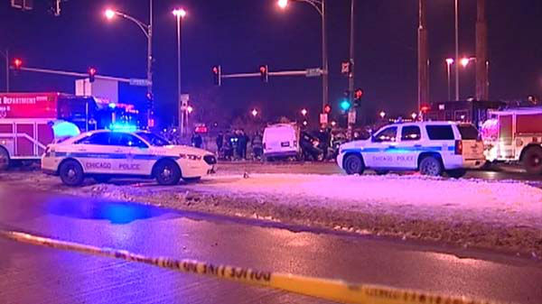 An off-duty Chicago police officer inside the Lexus was killed in the crash. His name has not been released, but officials said the 42-year-old was headed home from work when he was killed. He was still dressed in his Chicago police uniform.  <span class=meta>(WLS Photo)</span>
