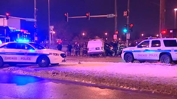 A Chicago police officer was on his way home from work when the car he was driving was struck by a van involved in a Calumet Park police chase. The off-duty officer was killed in the crash. <span class=meta>(WLS Photo)</span>