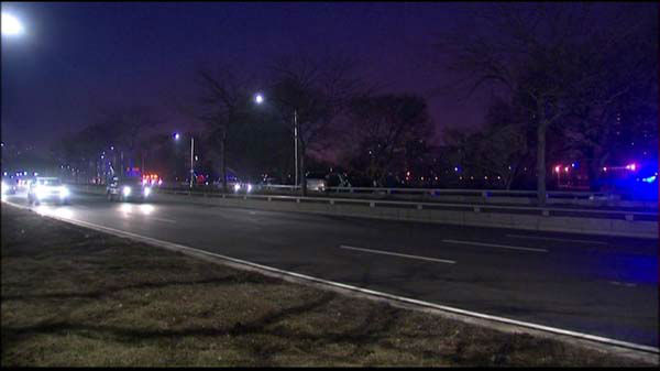 "<div class=""meta ""><span class=""caption-text "">Two people were killed in an early morning crash on southbound Lake Shore Drive. (WLS Photo)</span></div>"