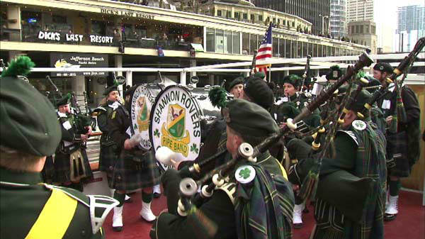 Chicago St. Patrick&#39;s Day traditions drew crowds of people dressed in green downtown on March 15, 2014, for the dyeing of the Chicago River and the St. Patrick&#39;s Day Parade. <span class=meta>(Photo&#47;WLS Photo)</span>