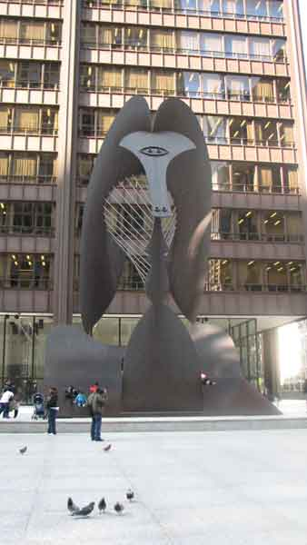 This untitled sculpture often called &#34;The Picasso,&#34; was made in 1967 by Pablo Picasso. &#34;The Picasso,&#34; weighing 162-tons, is located in Chicago&#39;s Daley Plaza. Known for its jungle-like features, the 50-foot sculpture was met with controversy before being made. In the past, Chicago was known for only having sculptures that had history behind it. When Picasso had no real history behind the sculpture, it stilll went up, opening a new door for other artists. This sculpture is located at 50 W. Washington St.  <span class=meta>(Joanna Wesoly&#47;ABC 7 Chicago)</span>